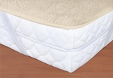 Vlněný matracový chránič - béžový