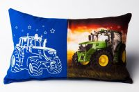 Svítící polštářek Traktor modrý 25x41 cm