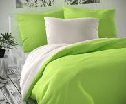 Zeleno bílé saténové povlečení