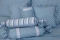 Povlak prošívaný Puntík modrý