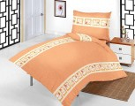 Povlečení bavlna do postýlky - Medvědí pohádka oranžová