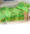 Povlečení bavlna do postýlky - Žirafa zelená