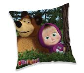 Polštářek Máša a Medvěd in forest