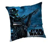 Dětský polštářek s motivem z filmu Star Wars Rogue One modrý Jerry Fabrics