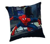 Dětský polštářek s motivem Spidermana v modré barvě Jerry Fabrics